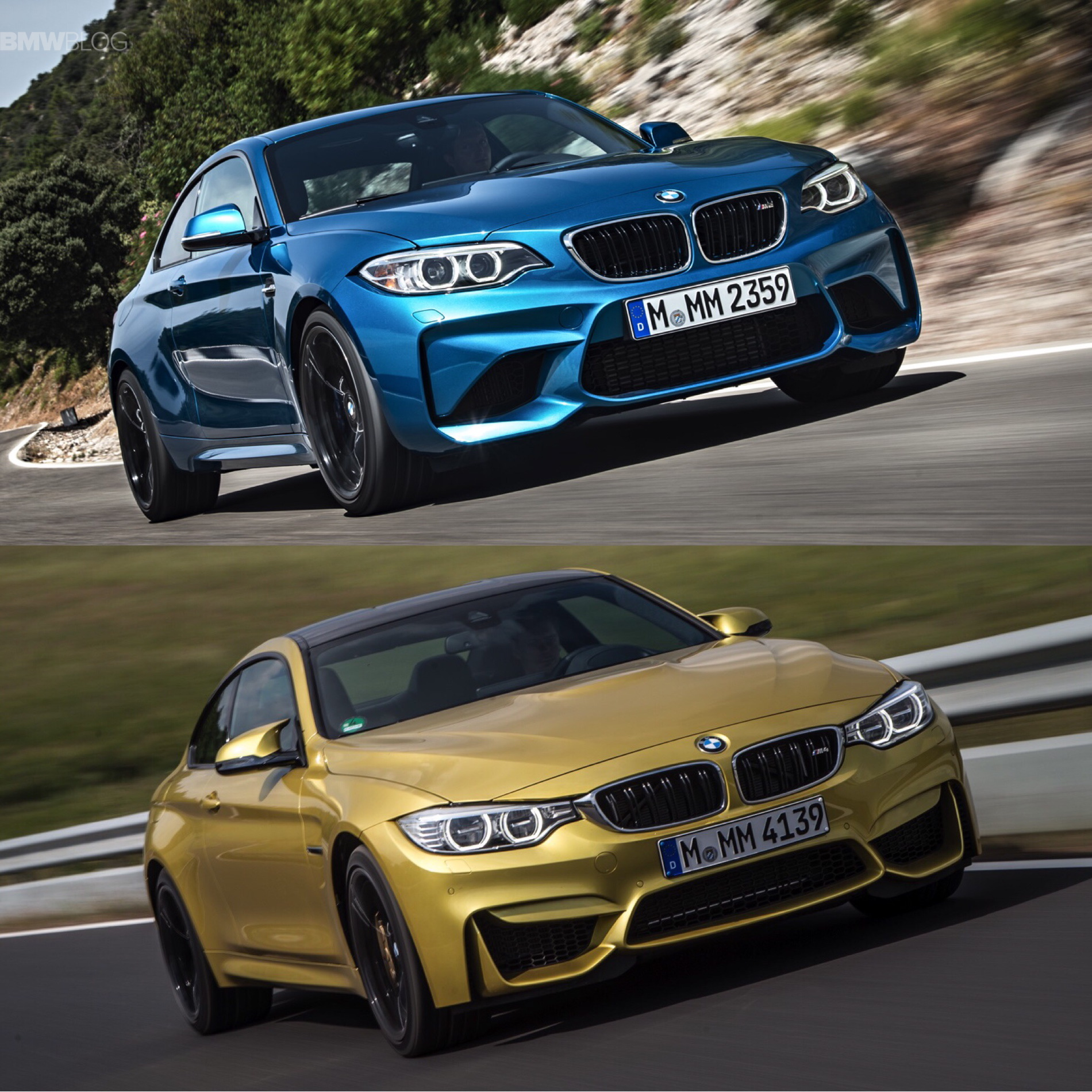 Bmw M2 Vs Bmw M4 Photos And Specs Comparison