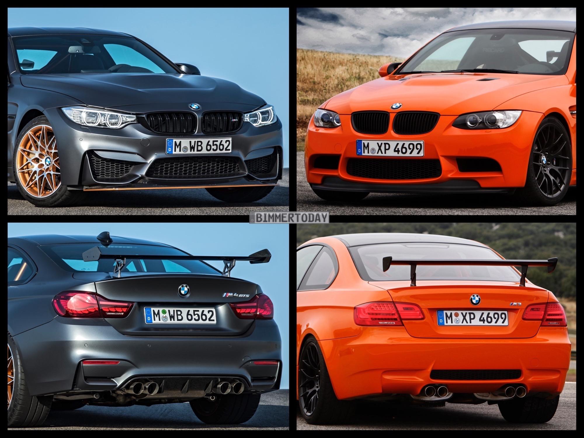 Bmw M4 Gts Vs Bmw M3 Gts Photo Comparison