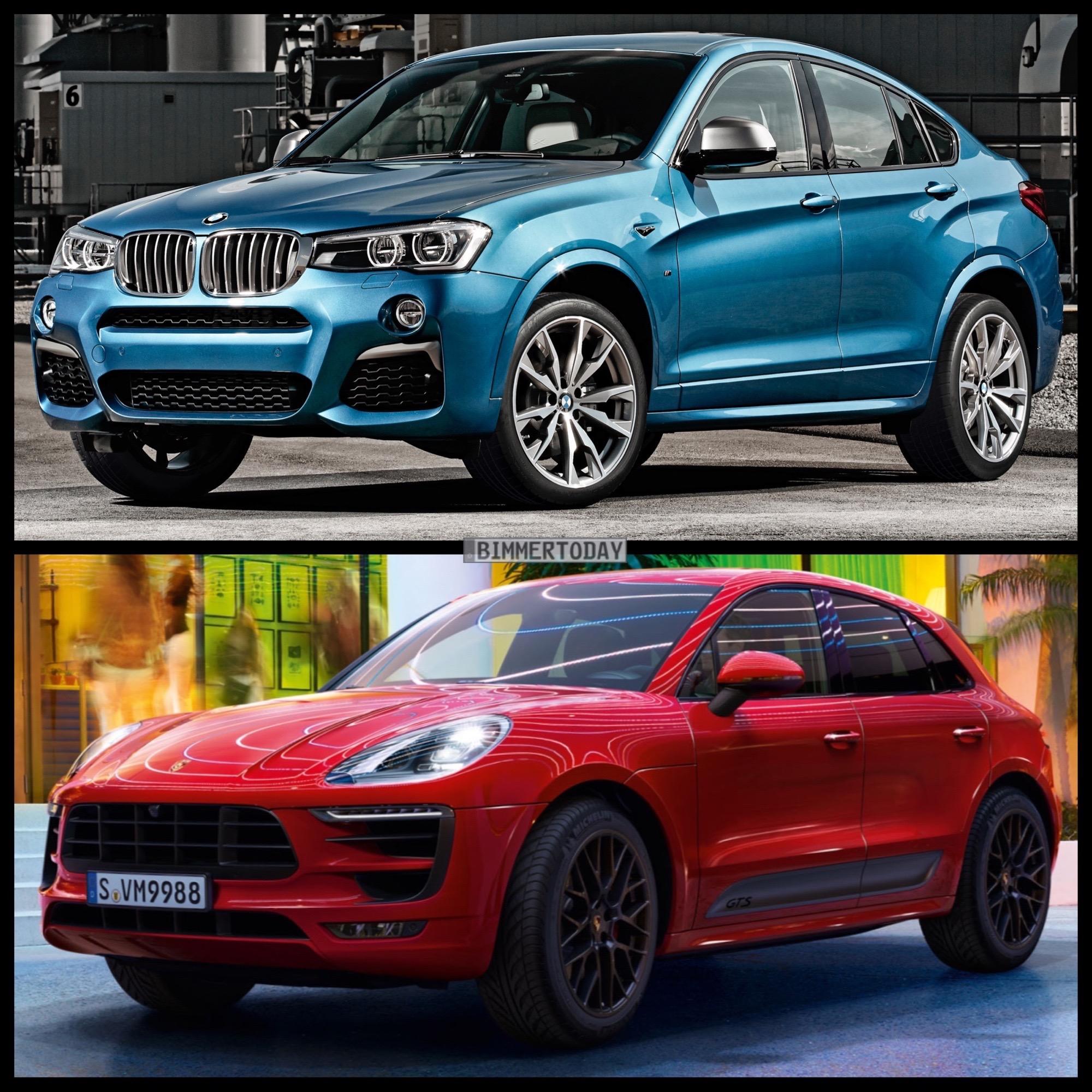 Bild Vergleich BMW X4 M40i F26 Porsche Macan GTS 2015 04