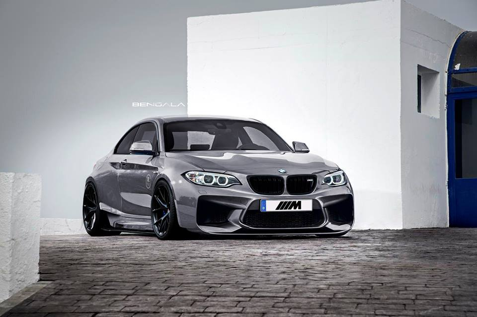 Bmw M2 With A Widebody Kit Shows Some Aggressive Design Lines