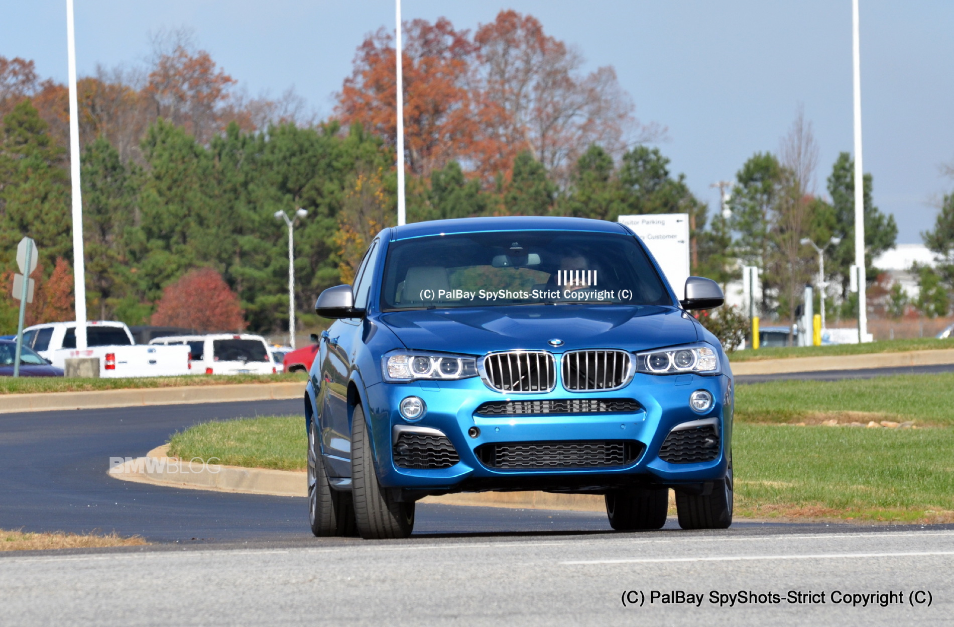 2016 BMW X4 M40i Long Beach Blue 2