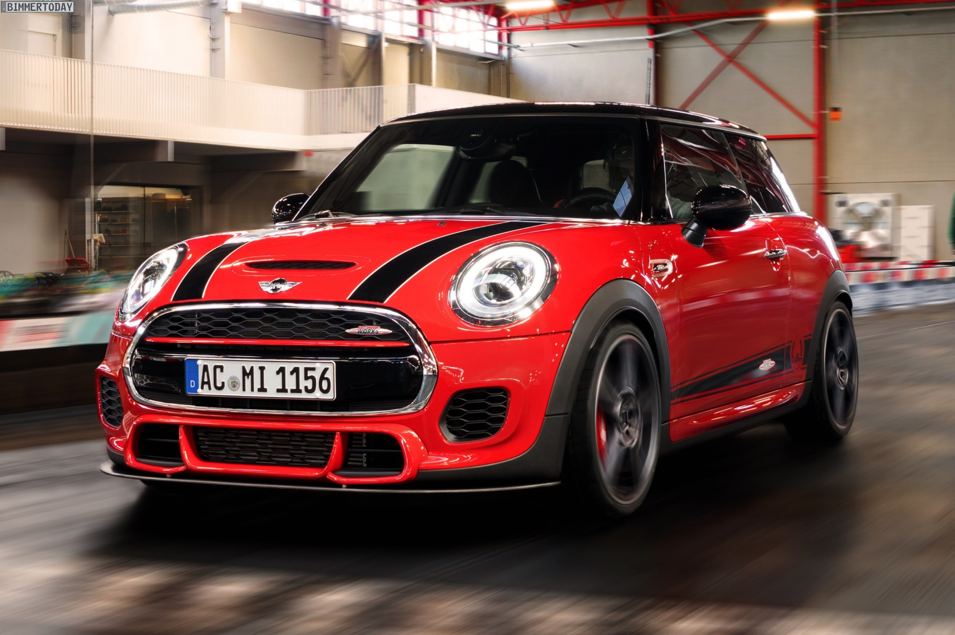 ac schnitzer mini john cooper works f56 with 265 hp heads to essen motor show. Black Bedroom Furniture Sets. Home Design Ideas