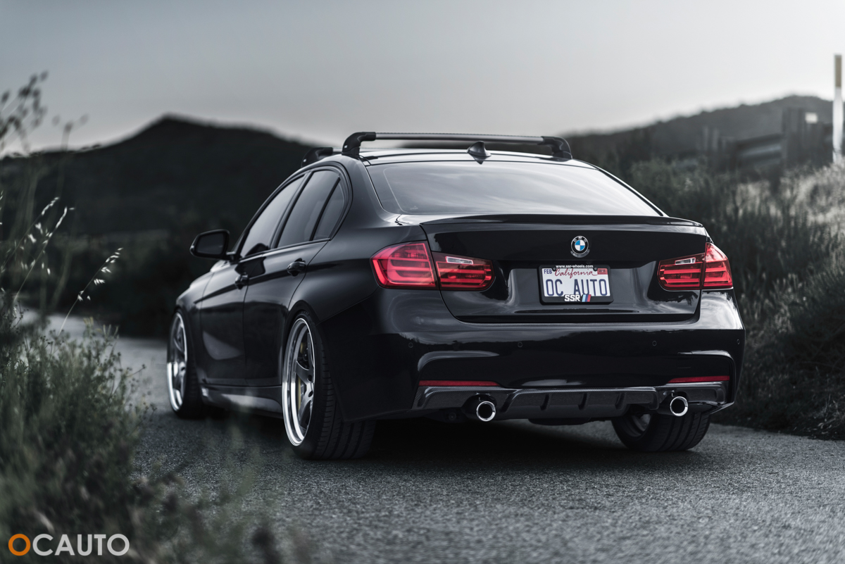 Black BMW F30 328i turns into a road beast