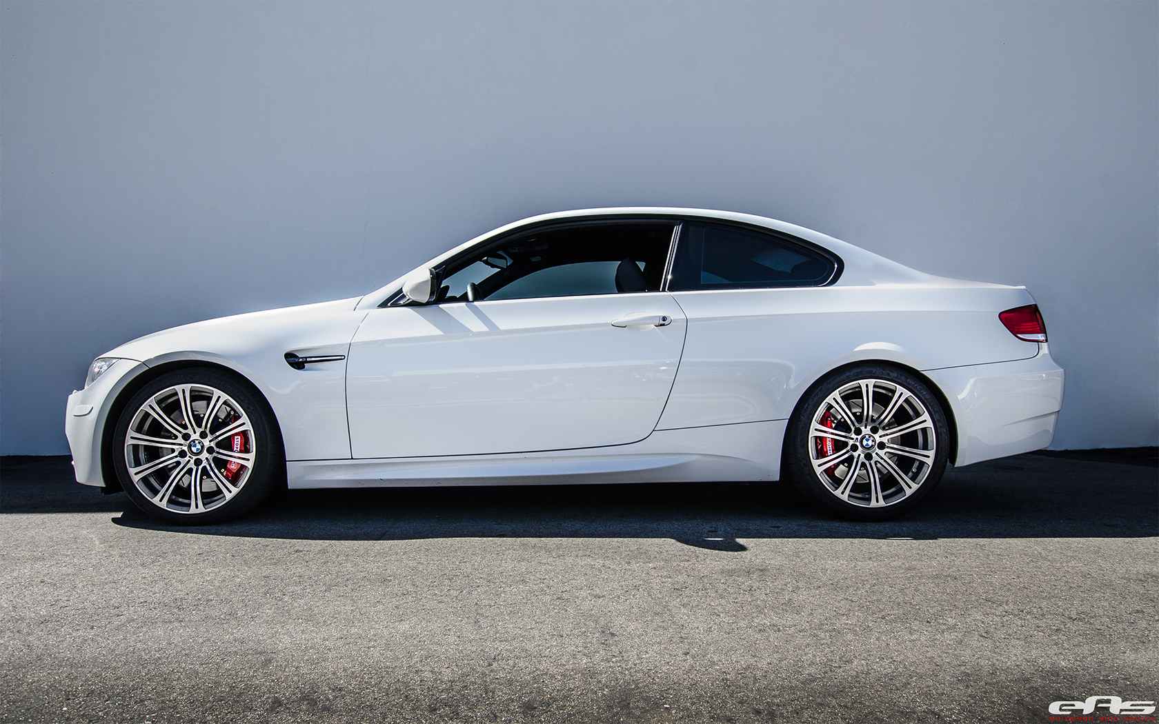 Alpine White Bmw E92 M3 With Stoptech Bbk Brakes