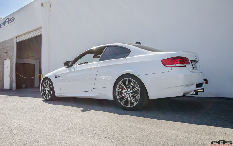 Alpine White BMW E92 M3 With A Stoptech BBK Installed 9