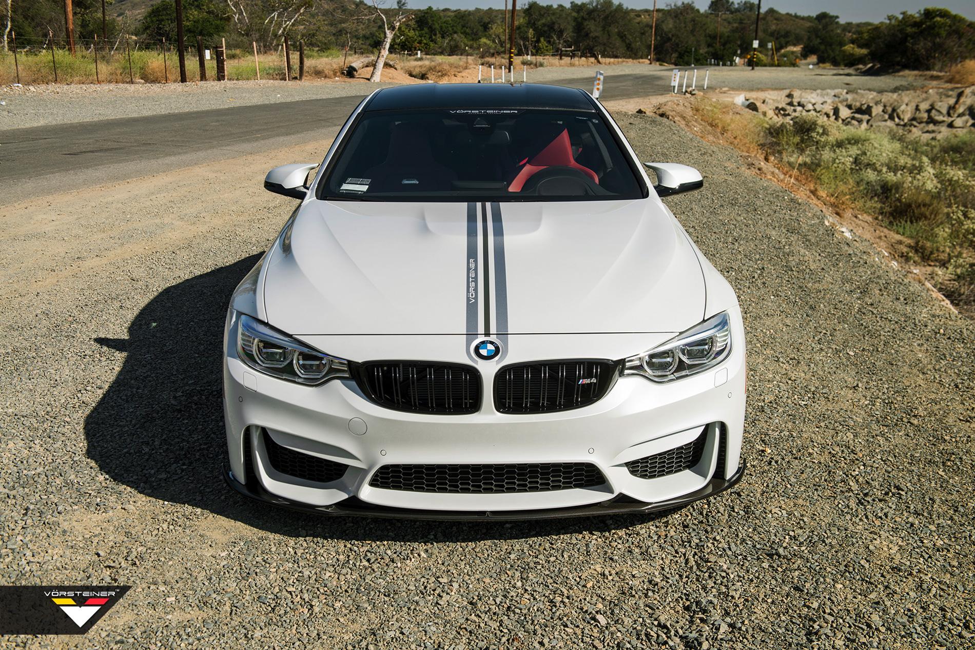 Alpine White BMW M4 Featuring A Vorsteiner Aero images 5