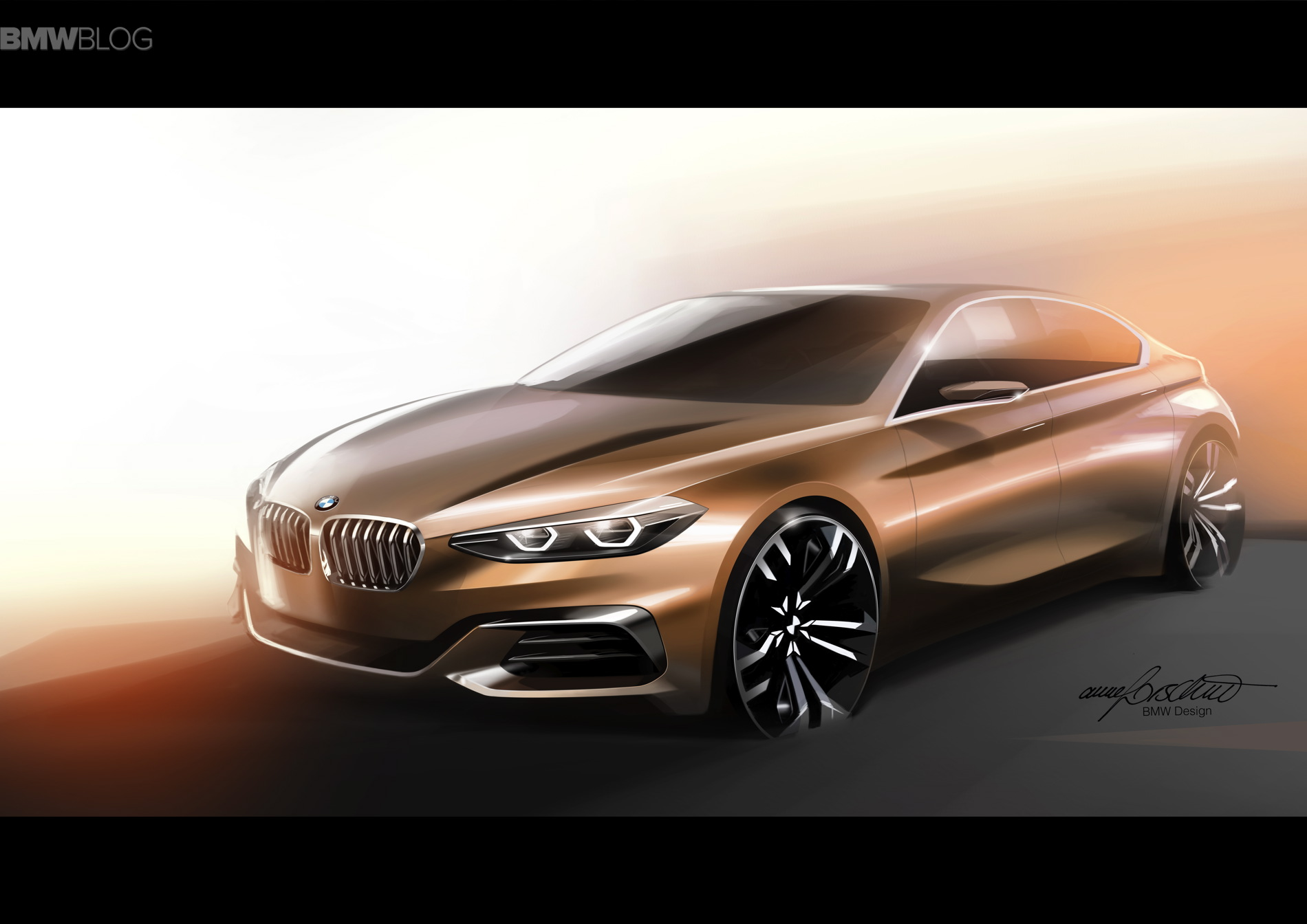 BMW is preparing to produce a 1-series sedan 2017 model year 81