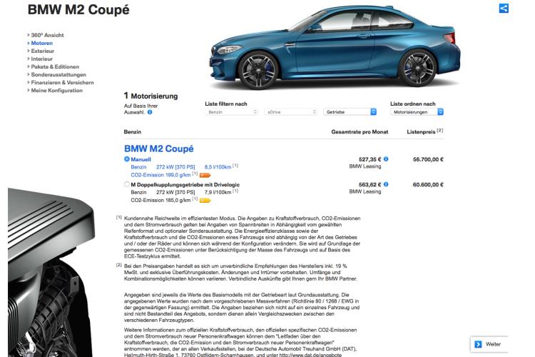 BMW M2 bmw de 750x500