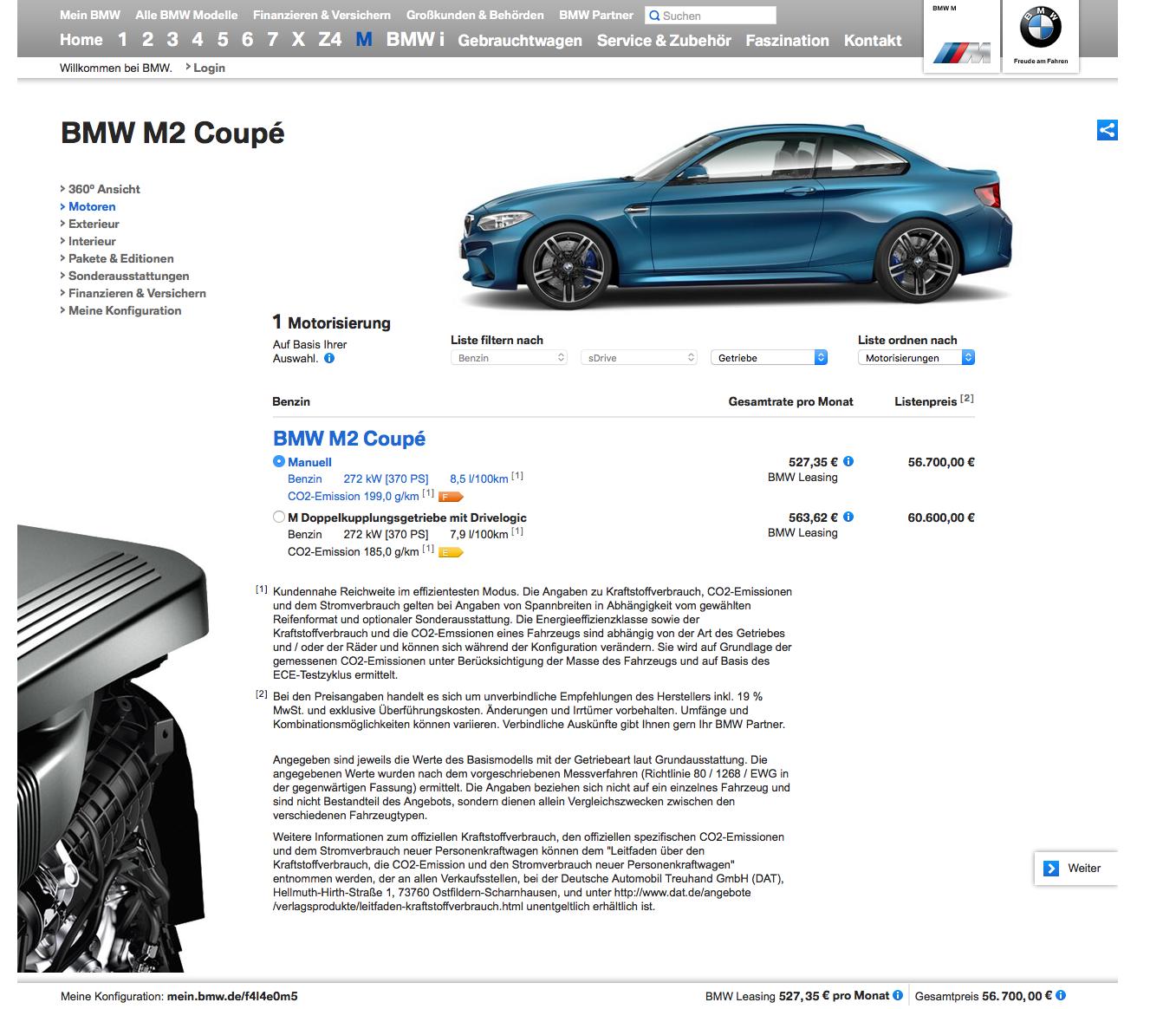 BMW M2 bmw de