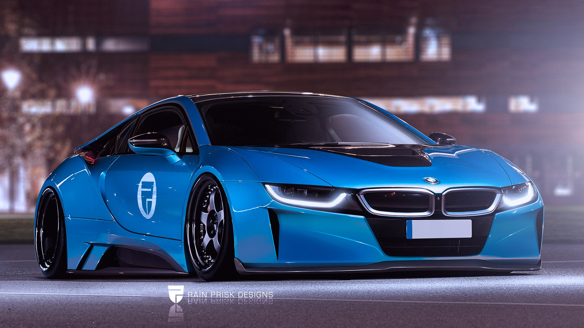 BMW i8 Widebody: Virtual tuning i8 by Rain Prisk Designs