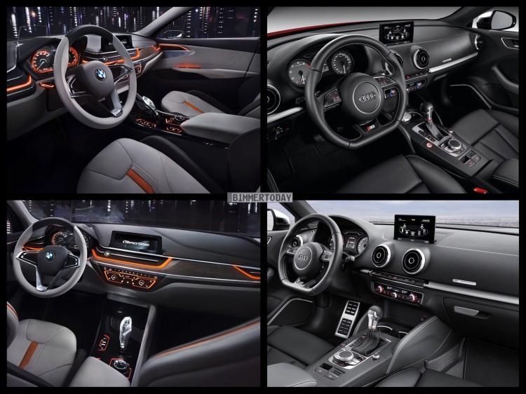 Bild Vergleich BMW Compact Sedan Concept 1er F52 Audi S3 Limousine 2015 06 750x562