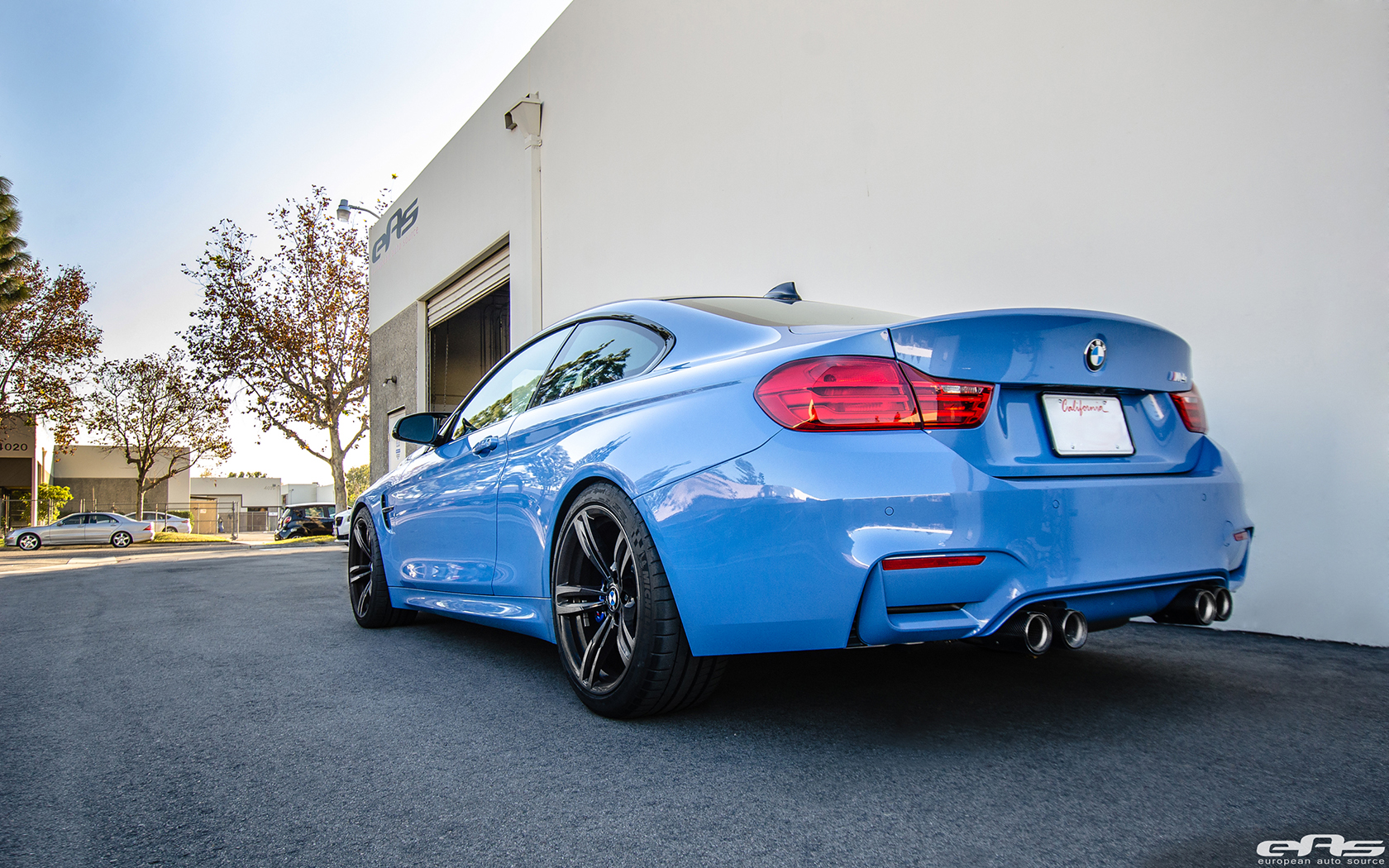 A Yas Marina Blue Bmw F82 M4 With A Lightweight Upgrade
