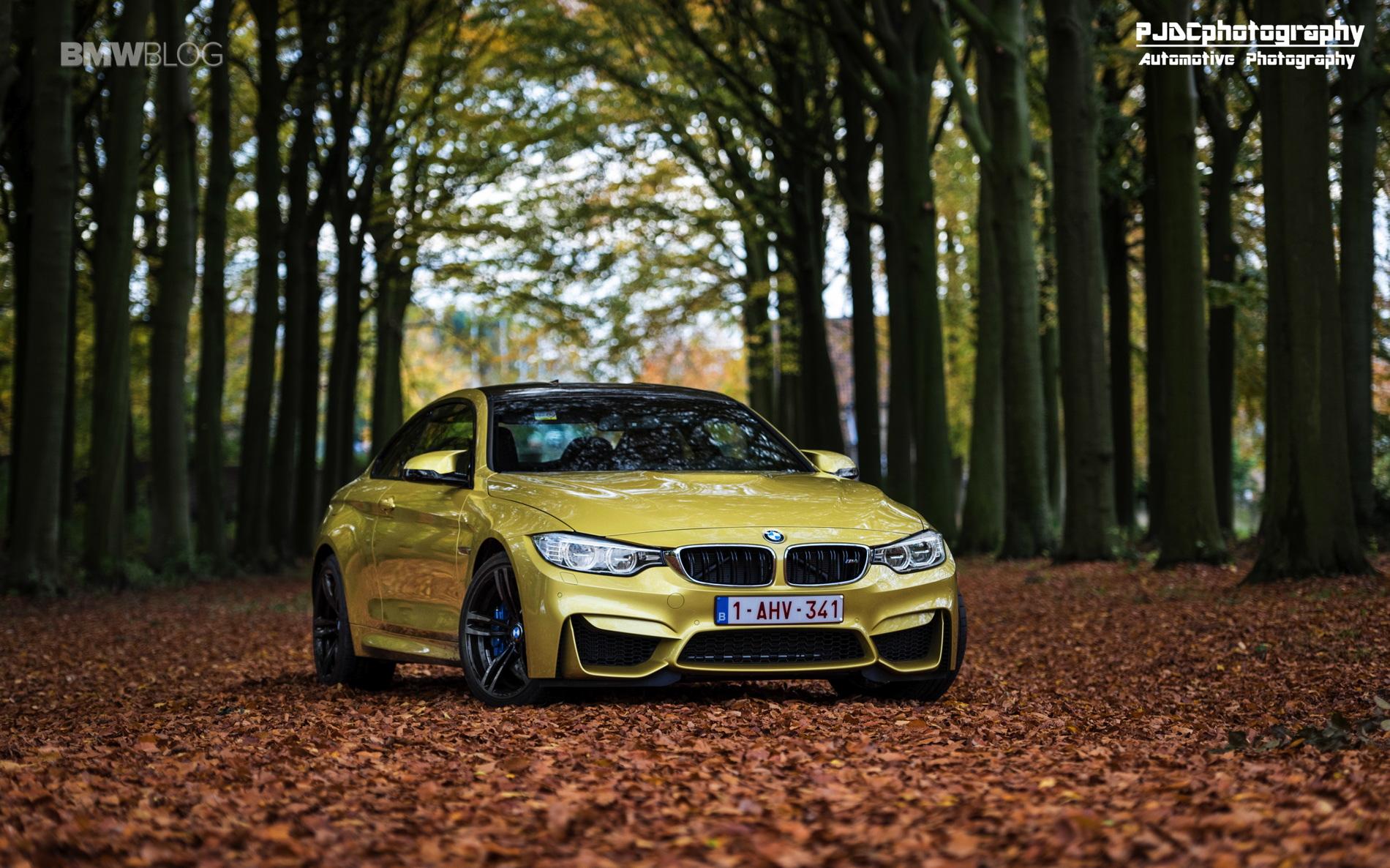 BMW M4 Austin Yellow photoshoot 15