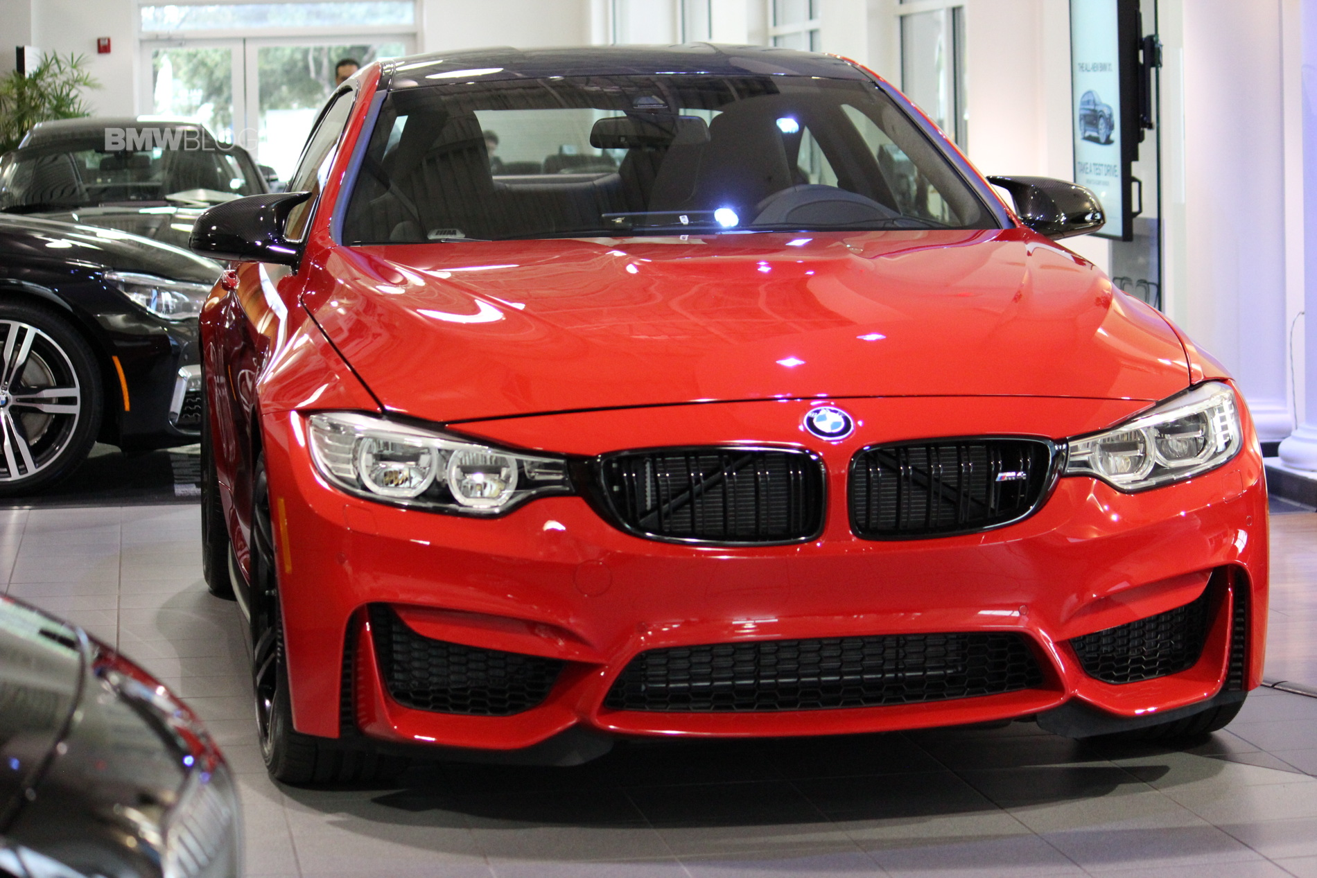 Bmw M4 In Ferrari Red Looks Gorgeous