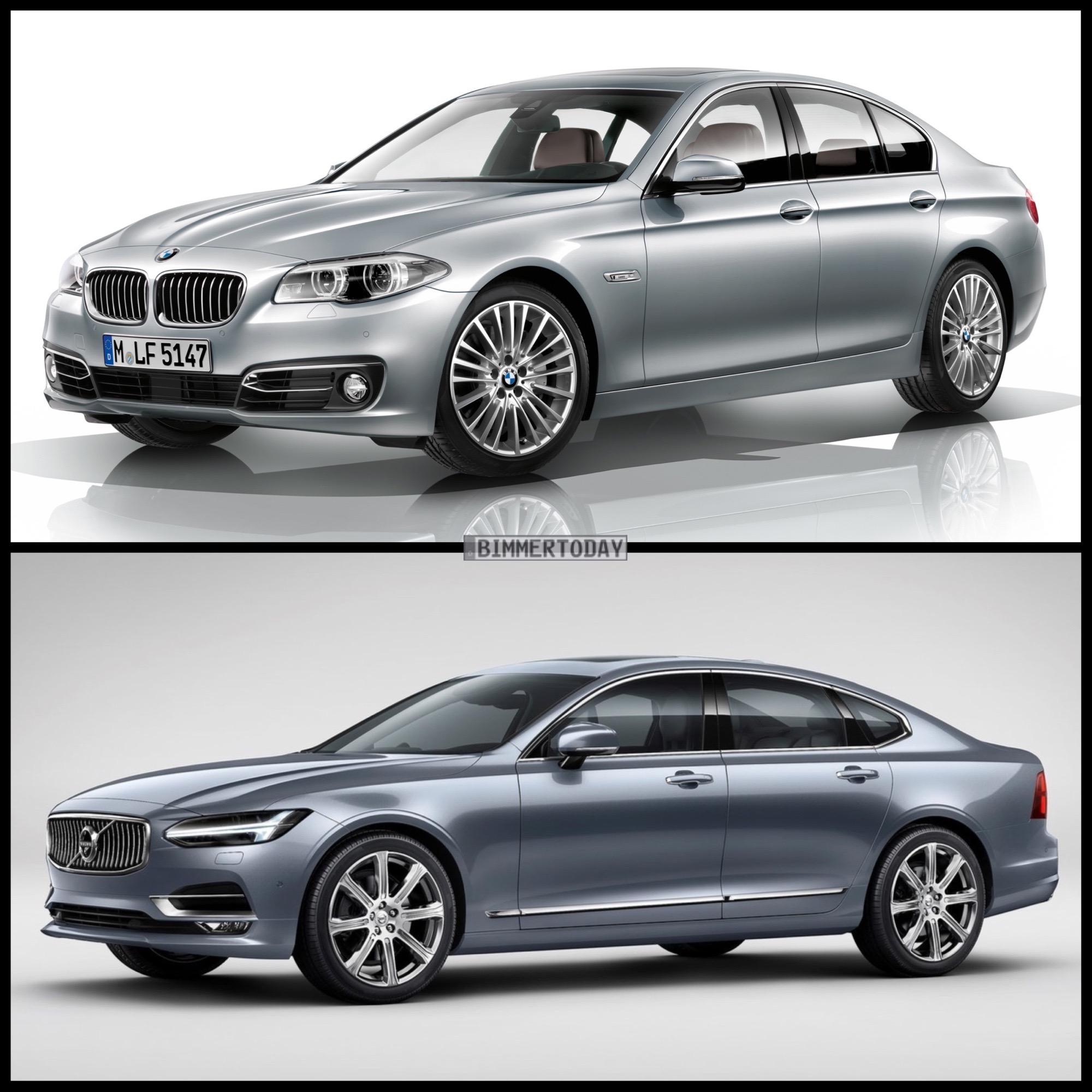Image Comparison 2016 Volvo S90 Vs Bmw F10 5 Series