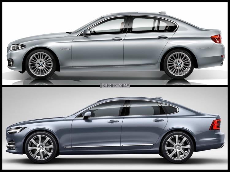 Bild Vergleich BMW 5er F10 LCI Volvo S90 Limousine 2016 03 750x562