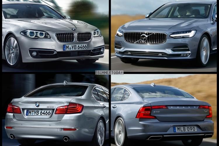 Bild Vergleich BMW 5er F10 LCI Volvo S90 Limousine 2016 05 750x500