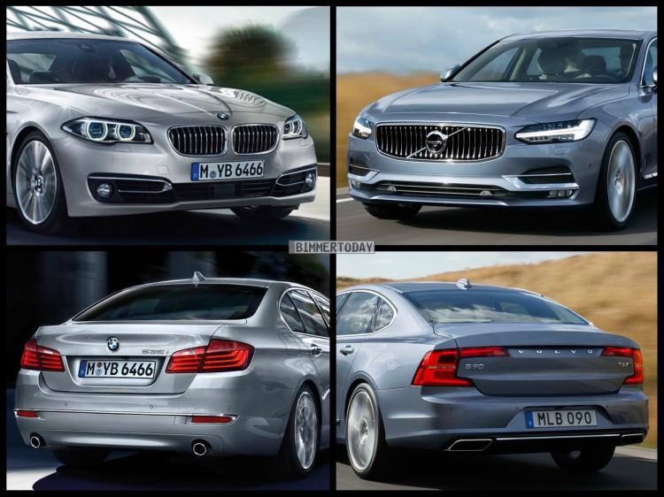 Bild Vergleich BMW 5er F10 LCI Volvo S90 Limousine 2016 05 750x562