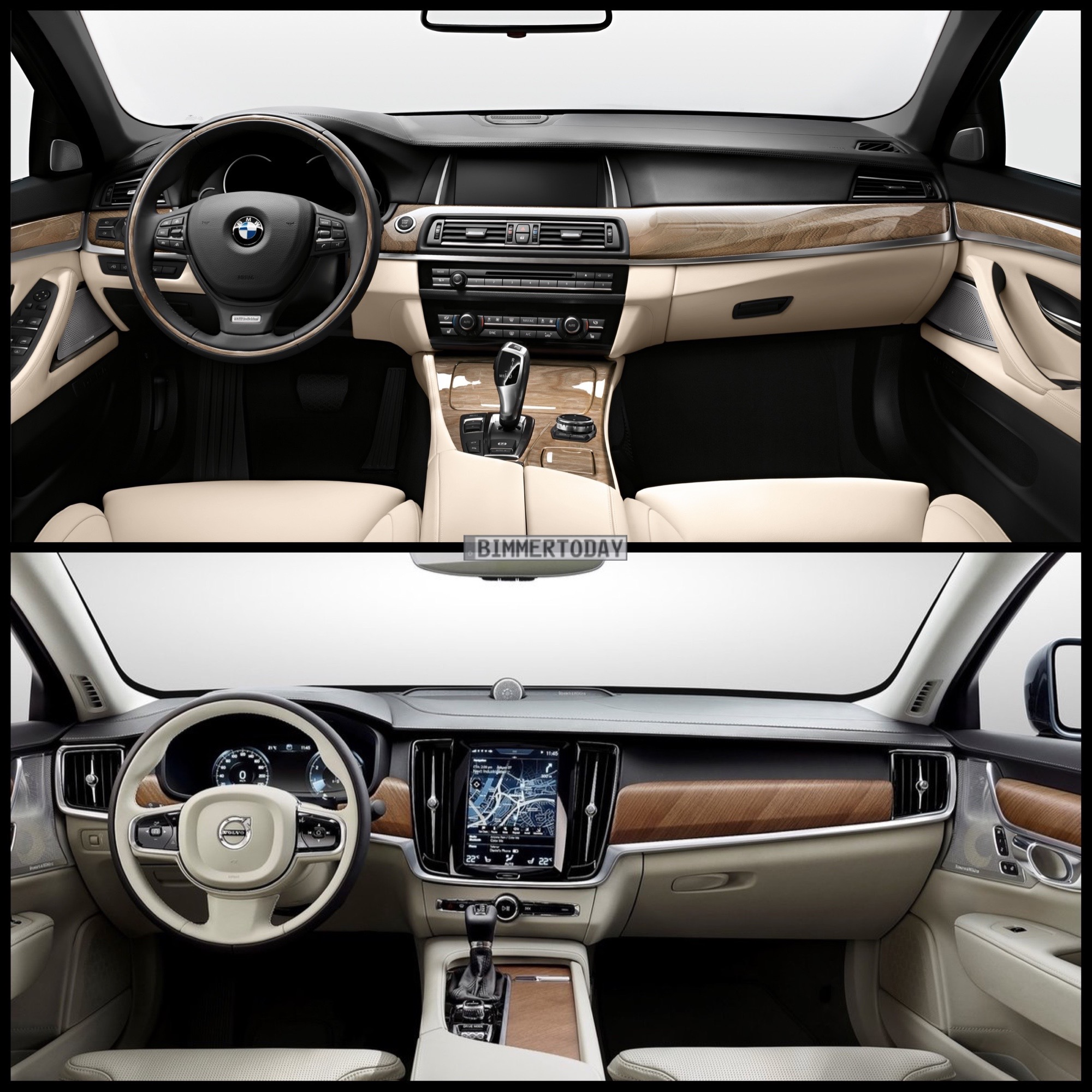Image Comparison: 2016 Volvo S90 vs. BMW F10 5 Series