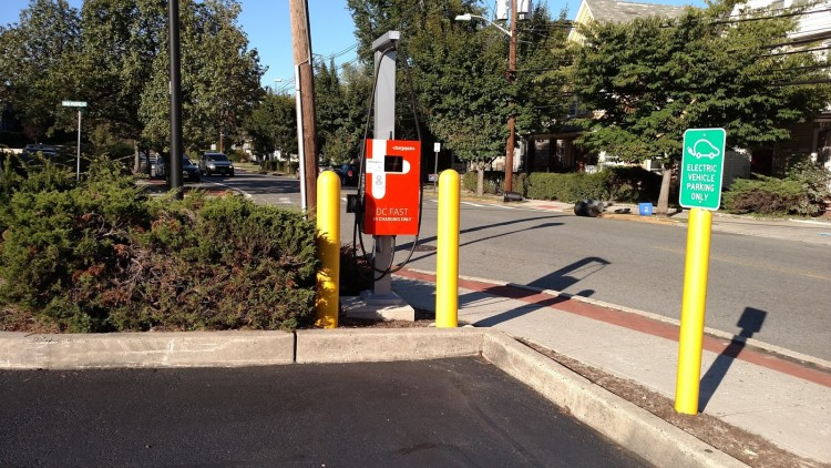 The DC Fast Charge Station I installed in Montclair, NJ. It's part of the East Coast Express Charging Corridor program