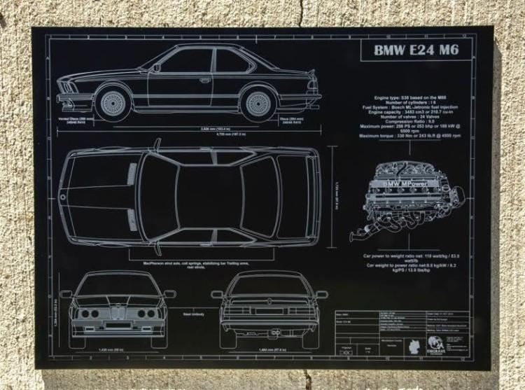 Engraved Blueprints BMW M6 750x557
