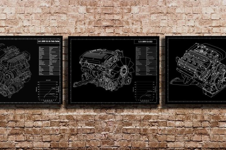 Engraved Blueprints bmw 750x500