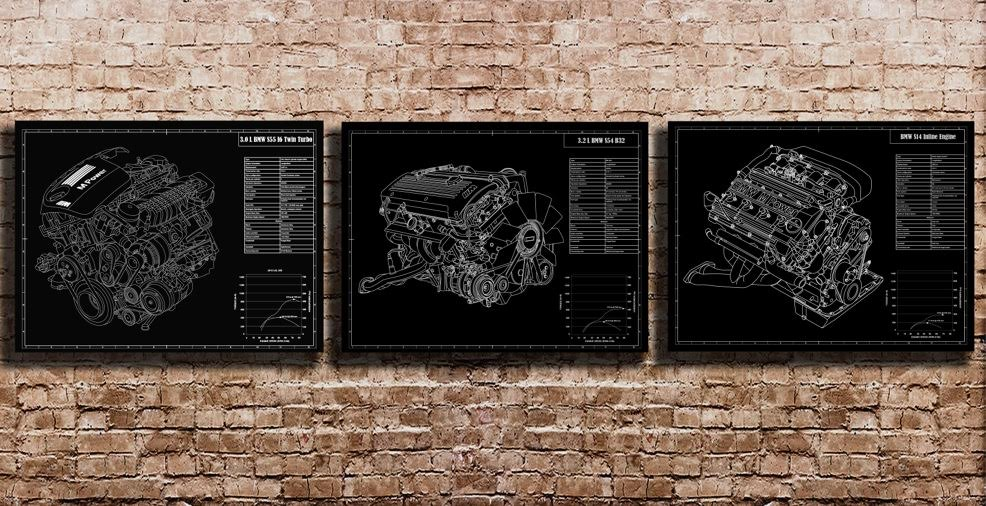 Engraved blueprints of bmw cars is the perfect gift for enthusiasts engraved blueprints bmw malvernweather Image collections