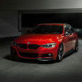 Red BMW 3 Series With Vorsteiner Parts