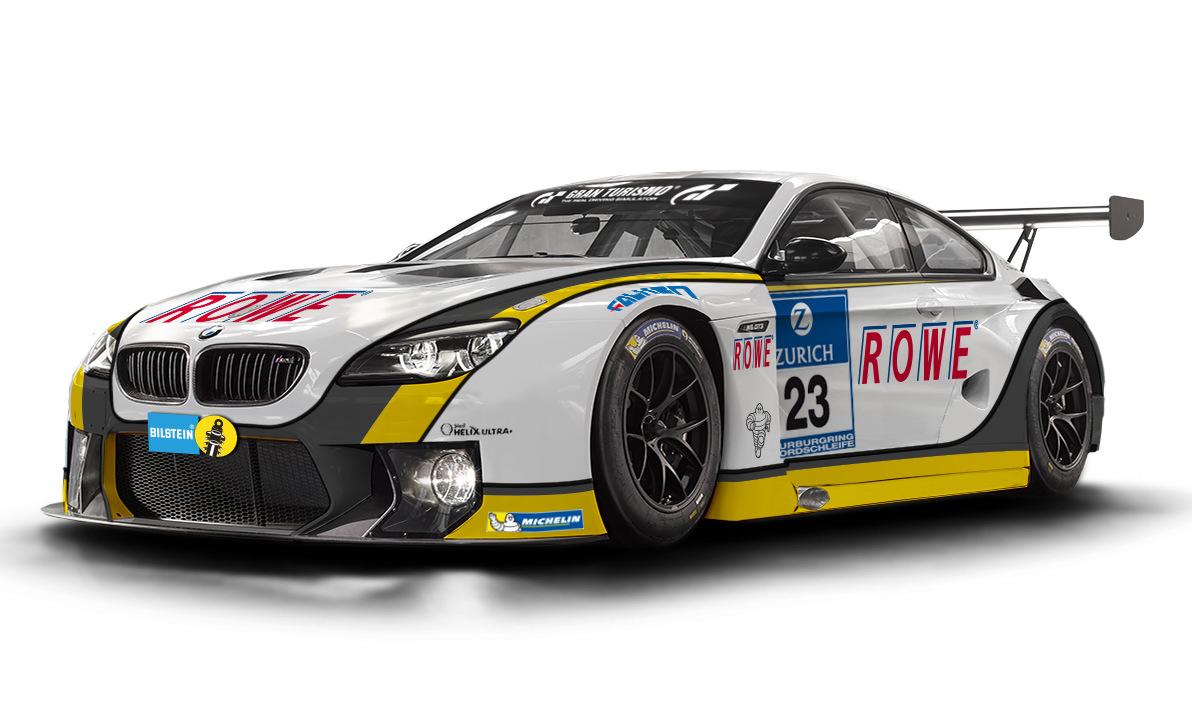 Rowe Racing Illustrates Their Bmw M6 Gt3 Racing Car
