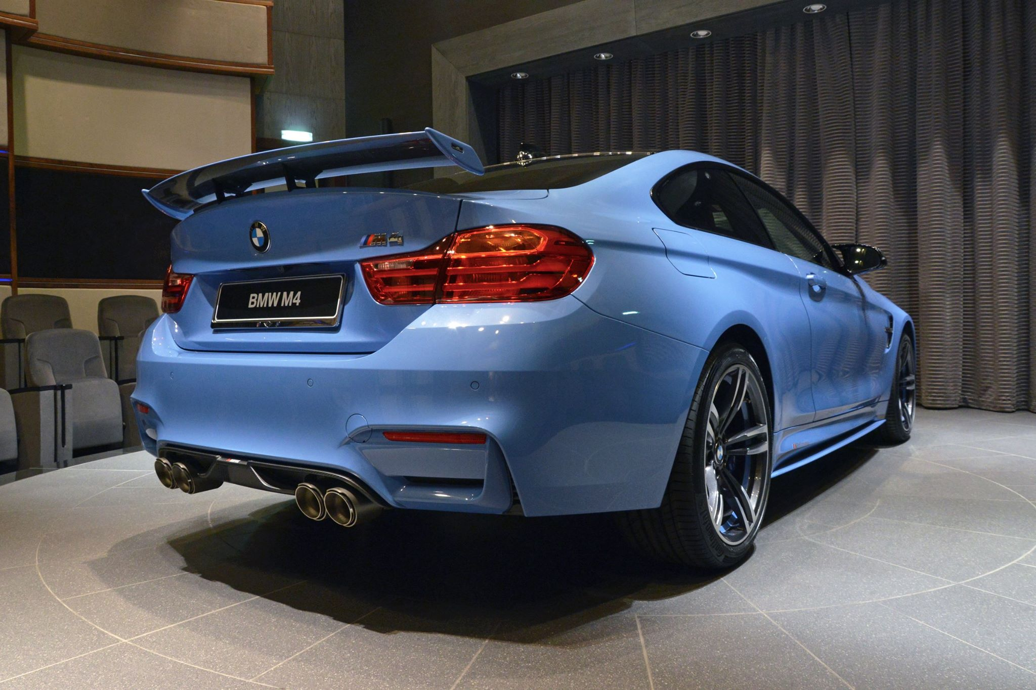 Yas Marina Blue BMW M4 Abu Dhabi 11