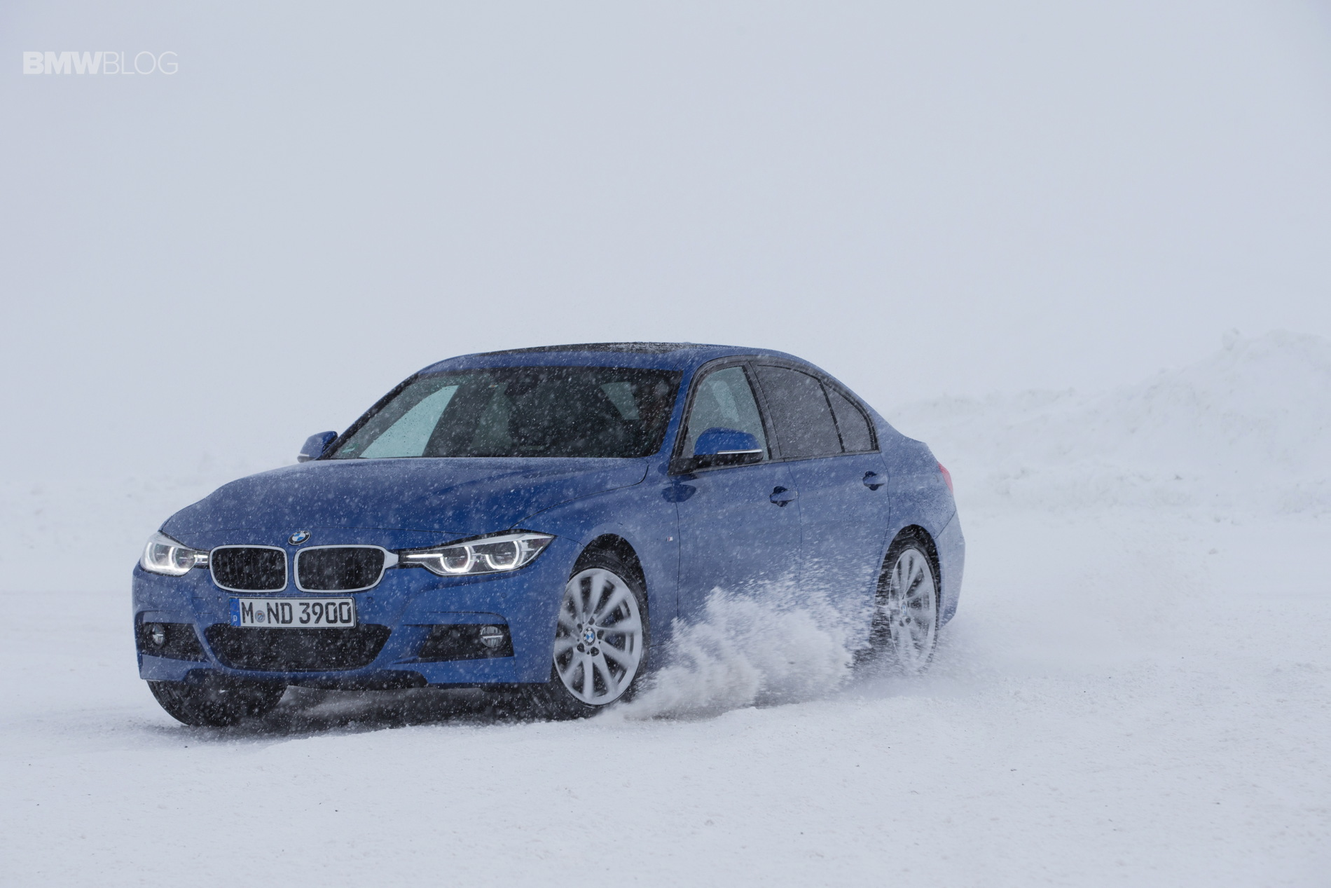 Bmw 335d Xdrive Lci With M Sport Package Playing In Snow