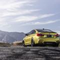 Austin Yellow BMW F82 M4 On VMR V710 Wheel
