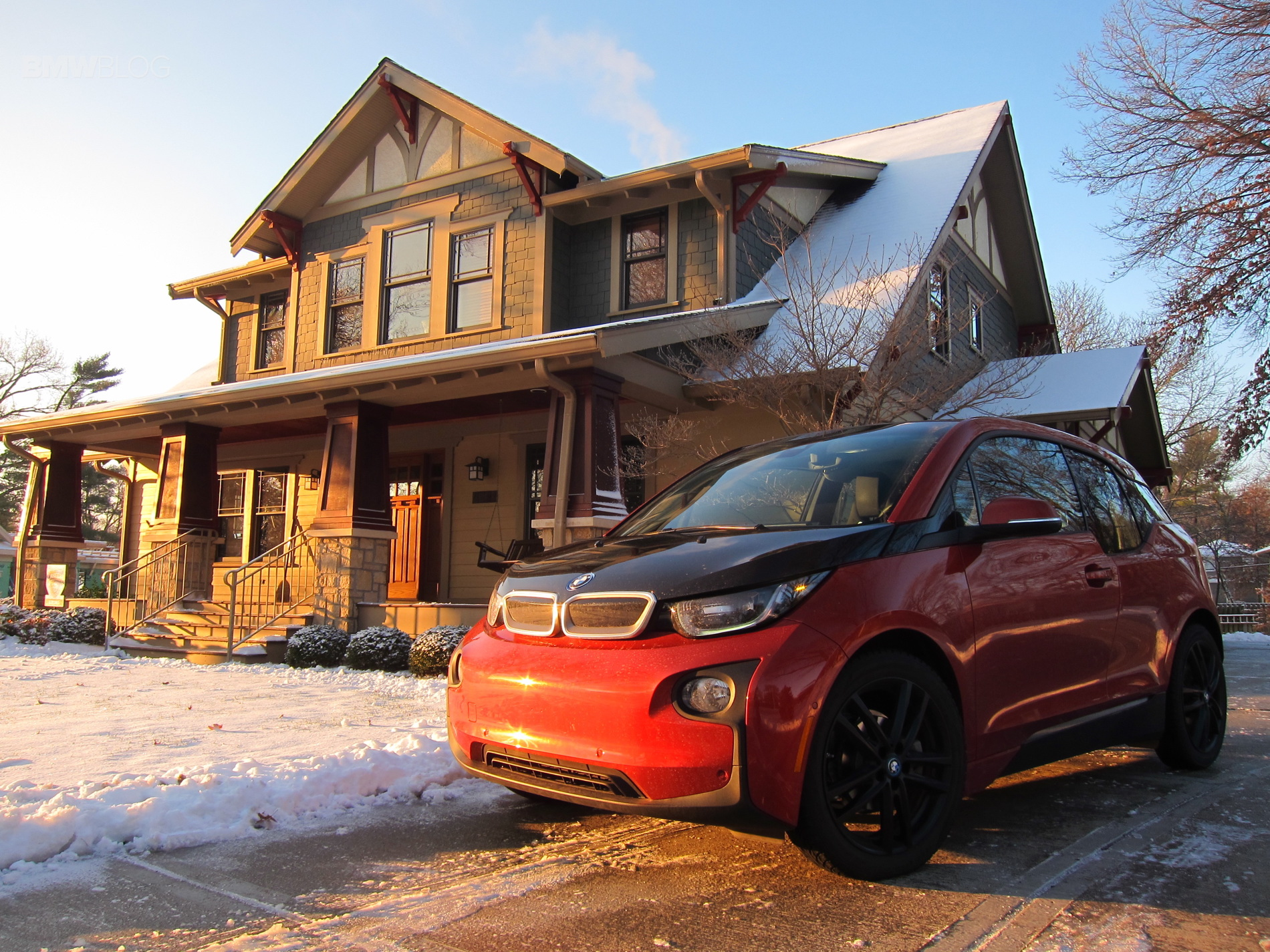 BMW i3 winter test drive 7