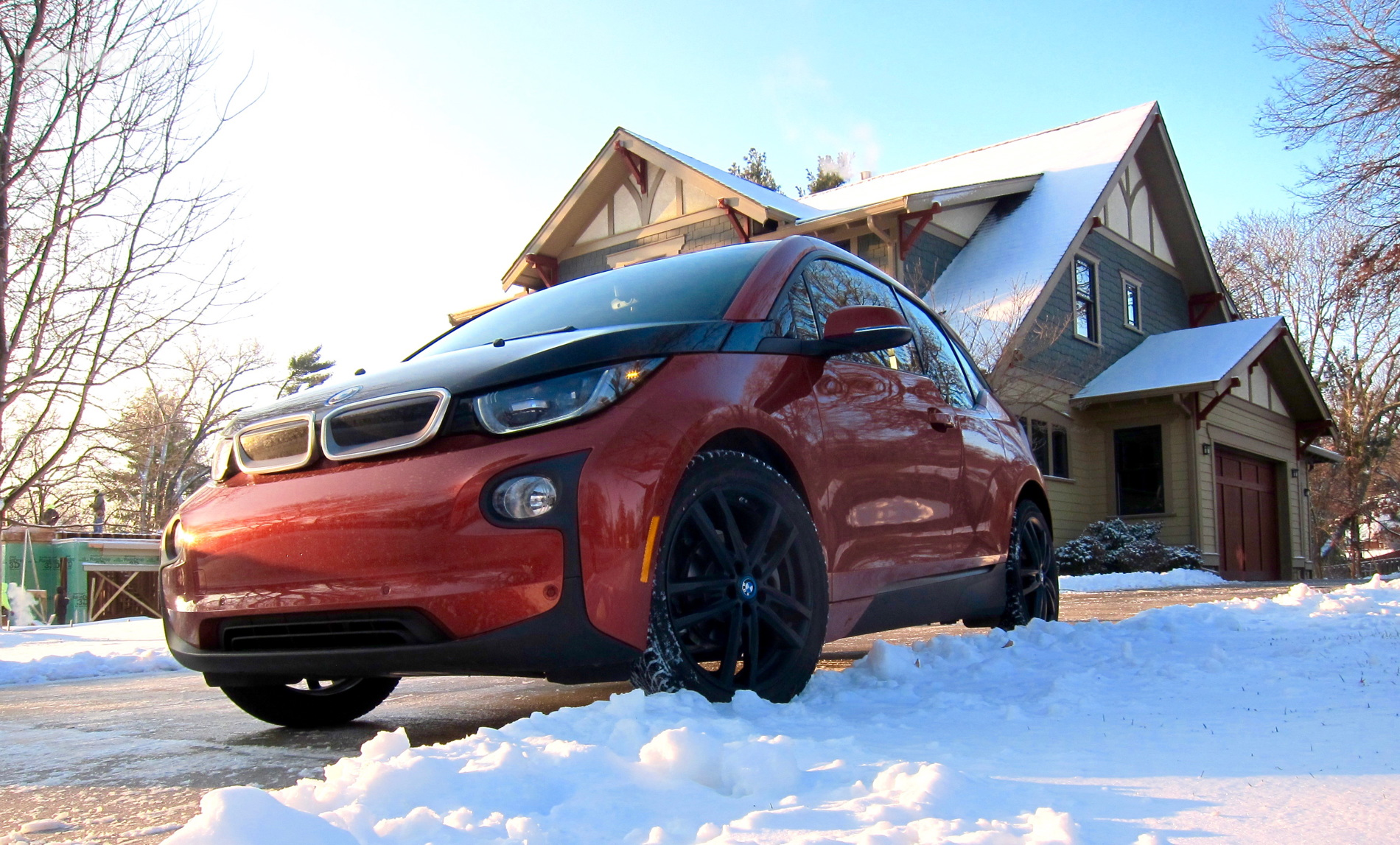 BMW i3 winter test drive 8