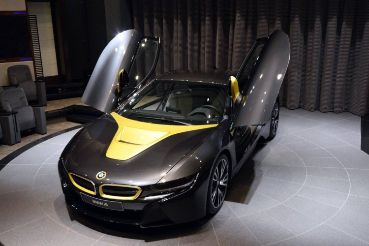 Bmw I8 Shines In Sophisto Grey With Austin Yellow Accents