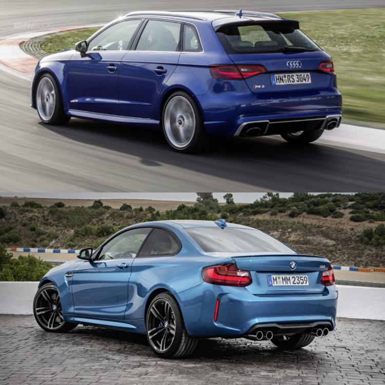 Audi RS3 BMW M2 2 750x750
