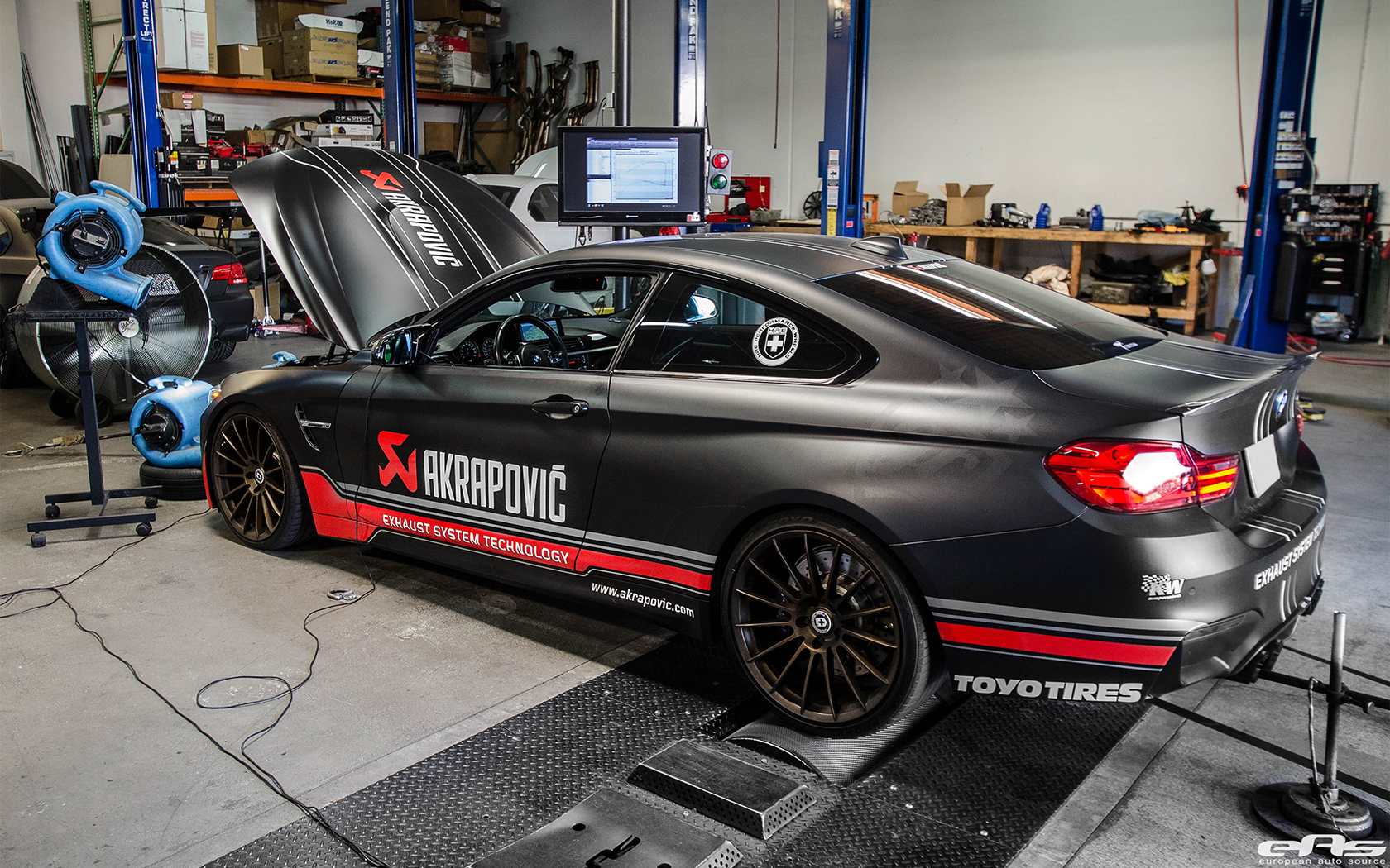 BMW F82 M4 With An Akrapovic Exhaust System 4