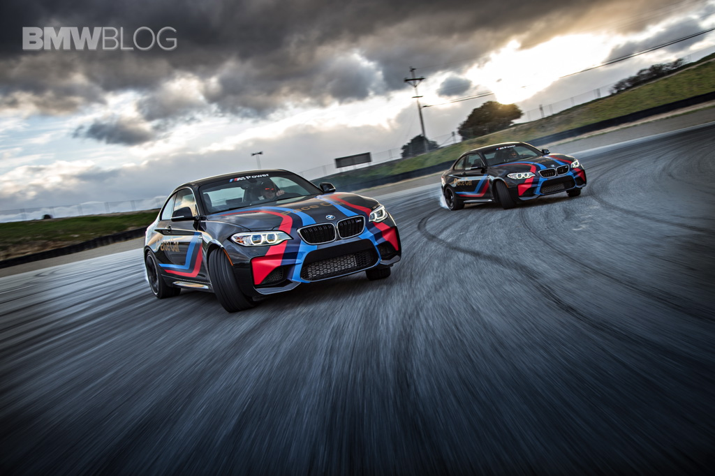Bmw M2 Pace Cars Drifting At Laguna Seca