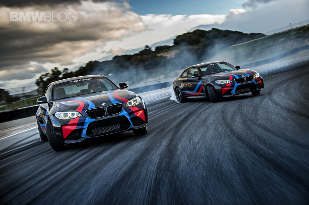 bmw m2 pace cars drifting at laguna seca. Black Bedroom Furniture Sets. Home Design Ideas