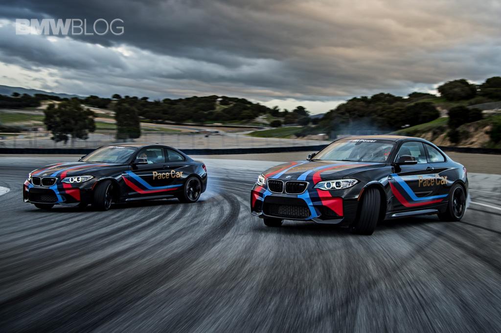 Fastest Car In The World 2020 >> BMW M2 Pace Cars drifting at Laguna Seca