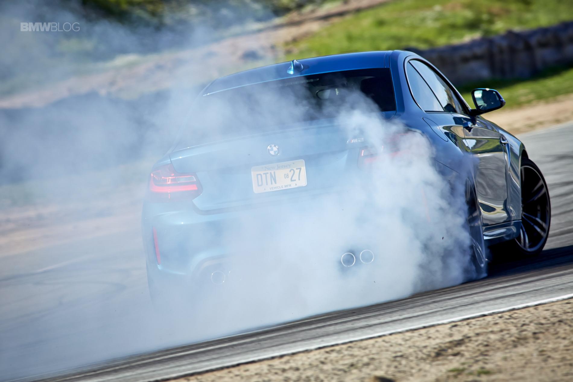 BMW M2 drifts laguna seca 84