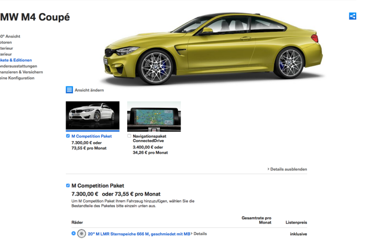 BMW M4 Competition Package 750x500