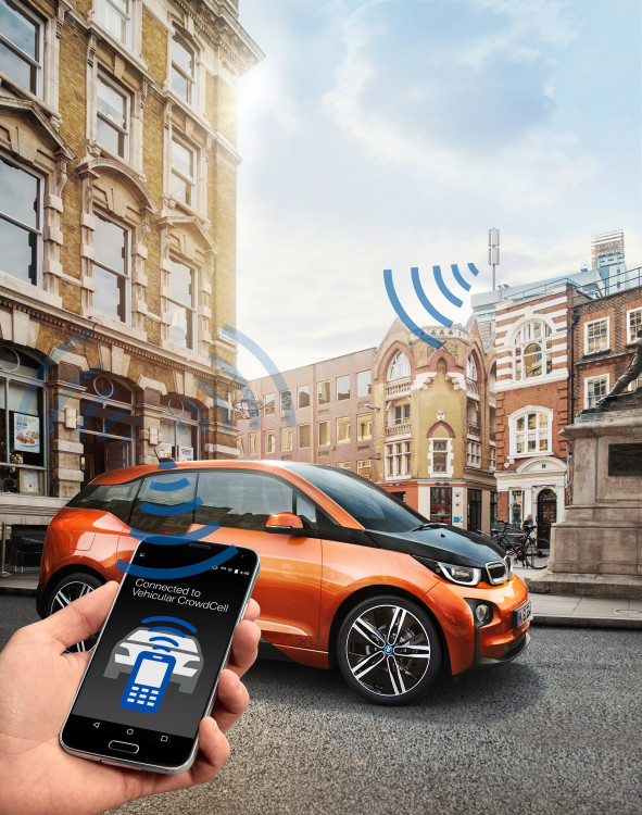 BMW Vehicular CrowdCell 591x750 BMW presents the Vehicular CrowdCell at the Mobile World Congress 2016 in Barcelona