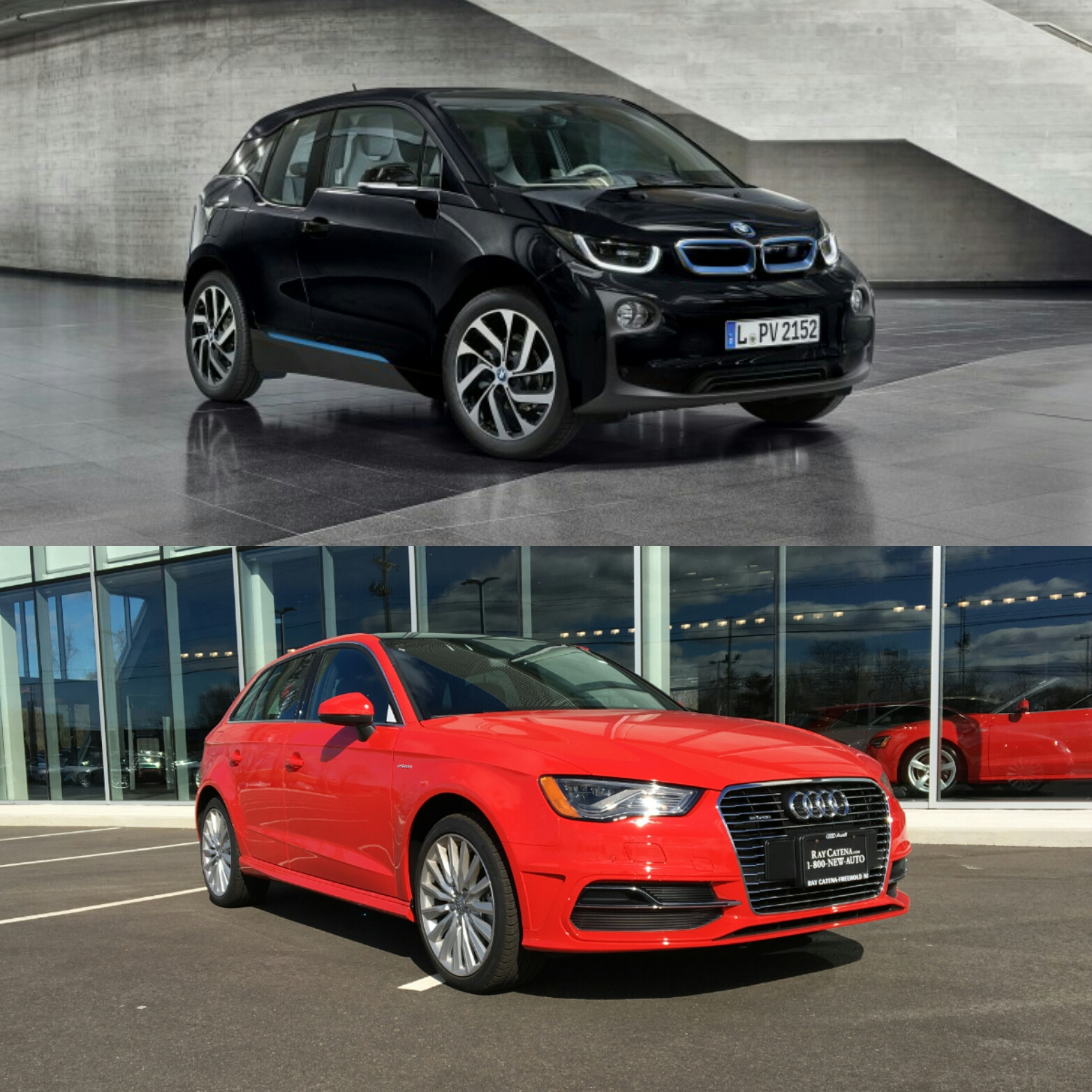 BMW i3 vs Audi A3 e tron 1