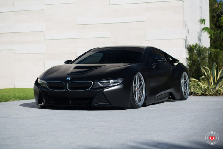 Matte Black Bmw I8 With Air Suspension