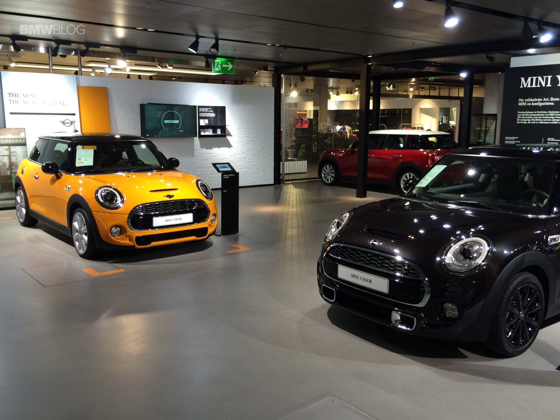 The New Mini Display At The Bmw Welt