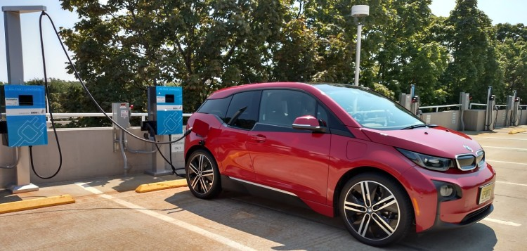 BMW decided to locate the charge port of the i3 on the rear right side of the vehicle