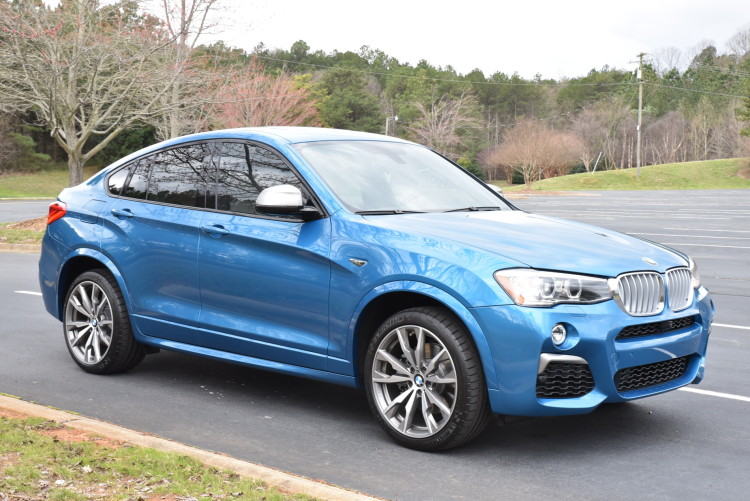 2016 BMW X4 M40i Long Beach Blue drive 10 750x501