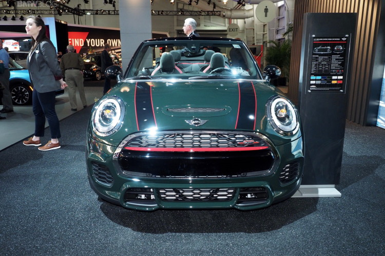 2016 MINI JCW Convertible New York Auto Show 1 750x500