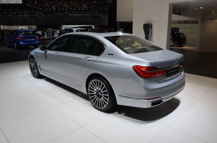 BMW 740Le G12 iPerformance 7er Hybrid 2016 Genf Autosalon Live 20 750x497